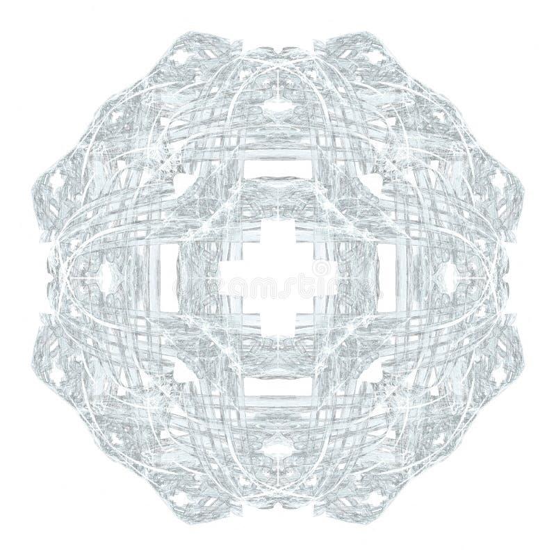Abstrakcjonistycznego grunge bławy wzór ilustracji