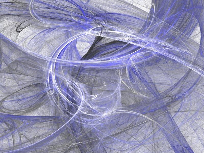 Abstrakcjonistycznego grunge brudny błękitny tło na białym tle royalty ilustracja