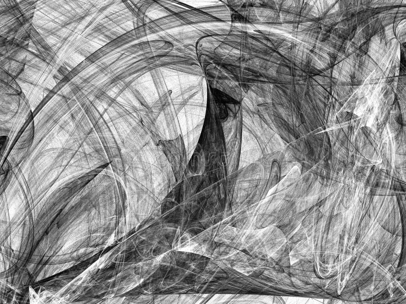 Abstrakcjonistycznego grunge brudny czarny tło na białym tle ilustracji