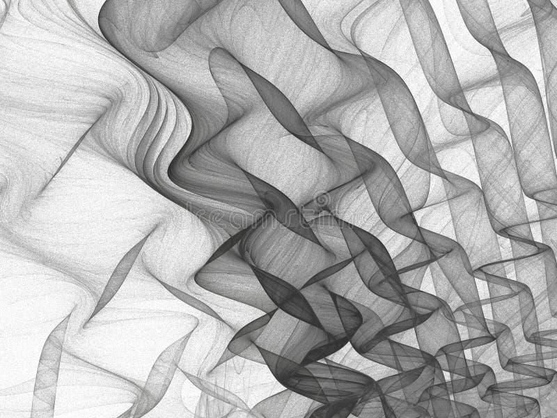 Abstrakcjonistycznego grunge brudny szary tło na białym tle ilustracja wektor