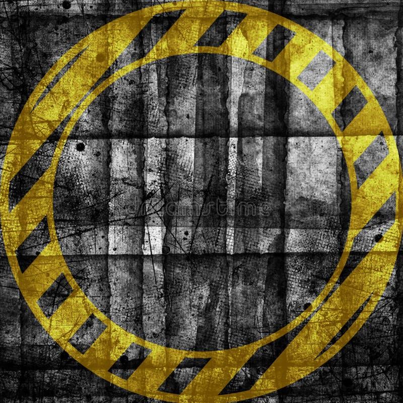 Abstrakcjonistycznego grunge cyber technologii futurystyczny backgroun Miastowy cyber ruch punk?w designd royalty ilustracja