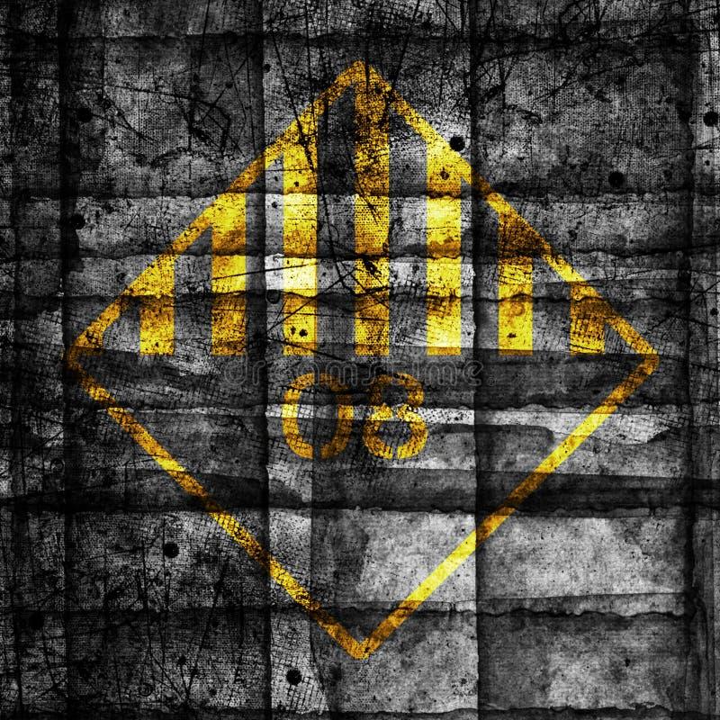 Abstrakcjonistycznego grunge cyber technologii futurystyczny backgroun Miastowy cyber ruch punk?w designd ilustracja wektor