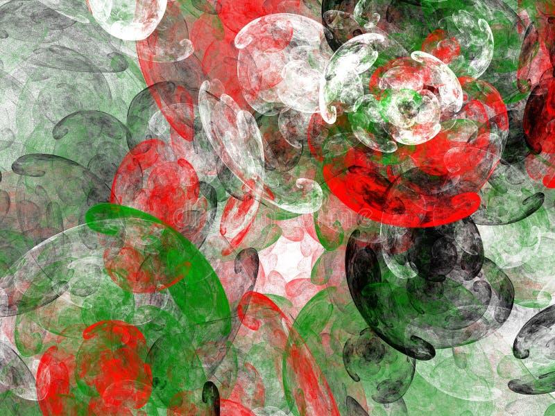 Abstrakcjonistycznego grunge czerwieni brudny zielony wzór royalty ilustracja