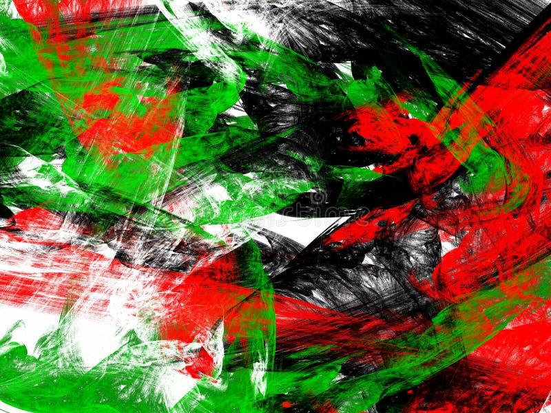 Abstrakcjonistycznego grunge czerwieni brudny zielony wzór ilustracji