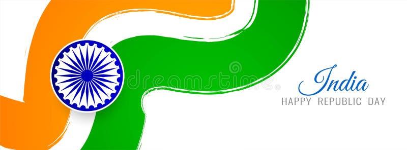 Abstrakcjonistycznego indianin flagi tematu sztandaru elegancki szablon ilustracja wektor