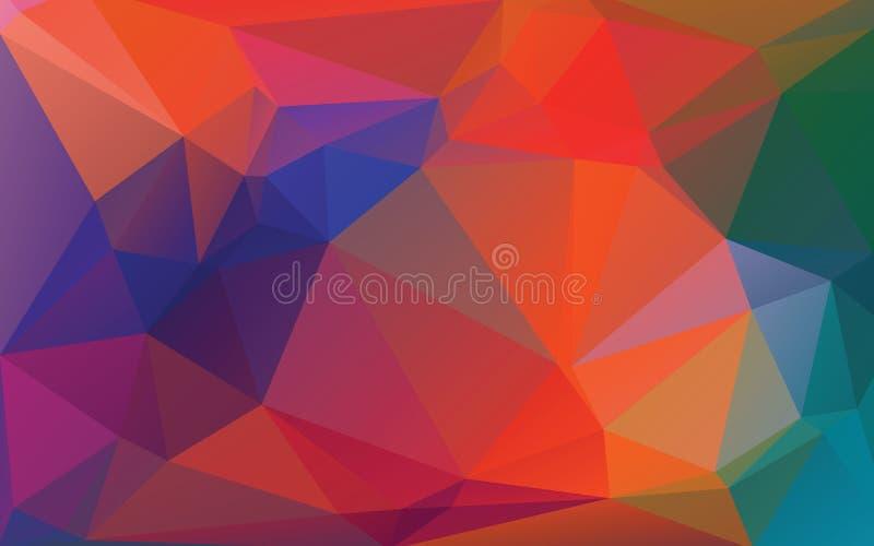 Abstrakcjonistycznego jesień koloru Niski Poli- Wektorowy tło royalty ilustracja