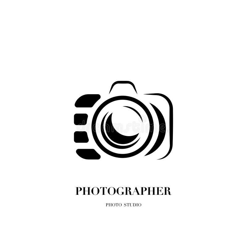 Abstrakcjonistycznego kamera loga projekta wektorowy szablon dla fachowego pho ilustracja wektor