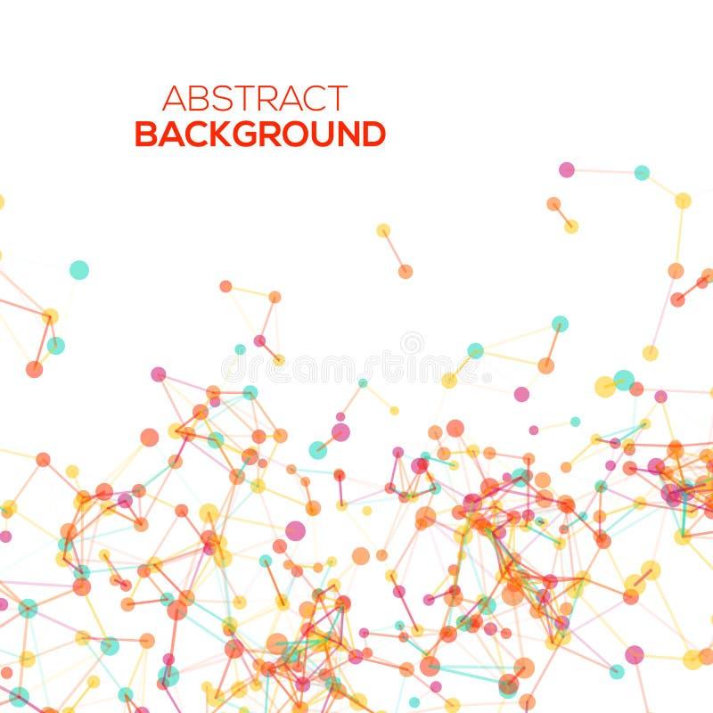 abstrakcjonistycznego kolorowe geometrycznego tła ilustracja wektor