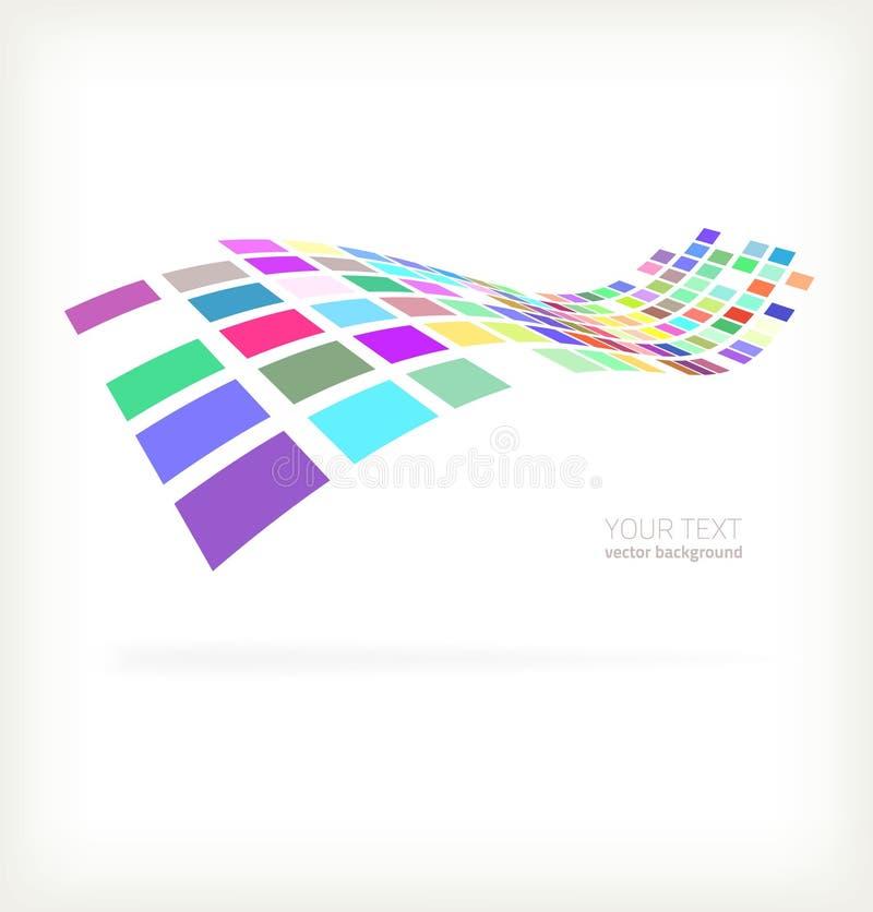 Abstrakcjonistycznego kolorowego mozaika kwadrata wektorowy projekt ilustracji