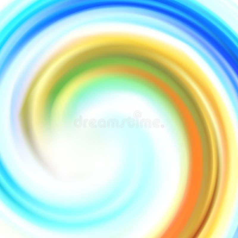 Abstrakcjonistycznego kolorowego okręgu tła Wektorowa ilustracja eps10 ilustracji