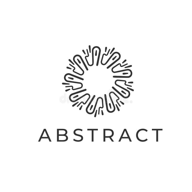 abstrakcjonistycznego kolorowego projekta graficzny ilustracyjny logo Liniowy okręgu symbol dla oznakować biznes, Nowożytny kreat royalty ilustracja