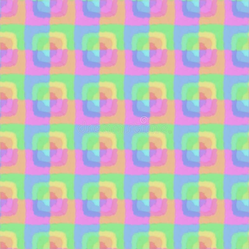Abstrakcjonistycznego kolorowego prostokąta bezszwowy wzór zdjęcie stock