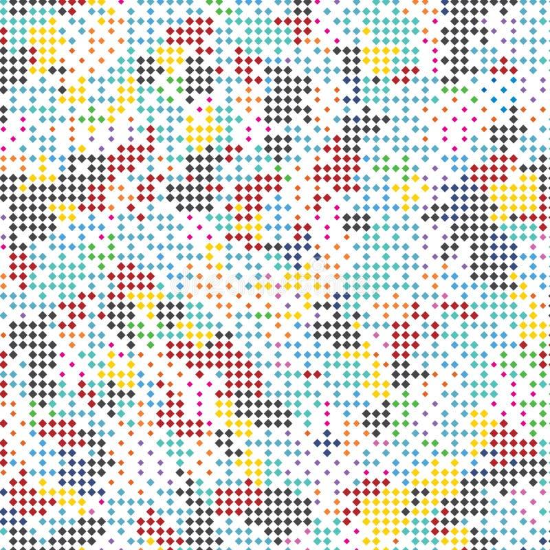 Abstrakcjonistycznego Kolorowego widmo płytki kwadrata stylu tkaniny tła Nowożytny wzór Texture_2 royalty ilustracja