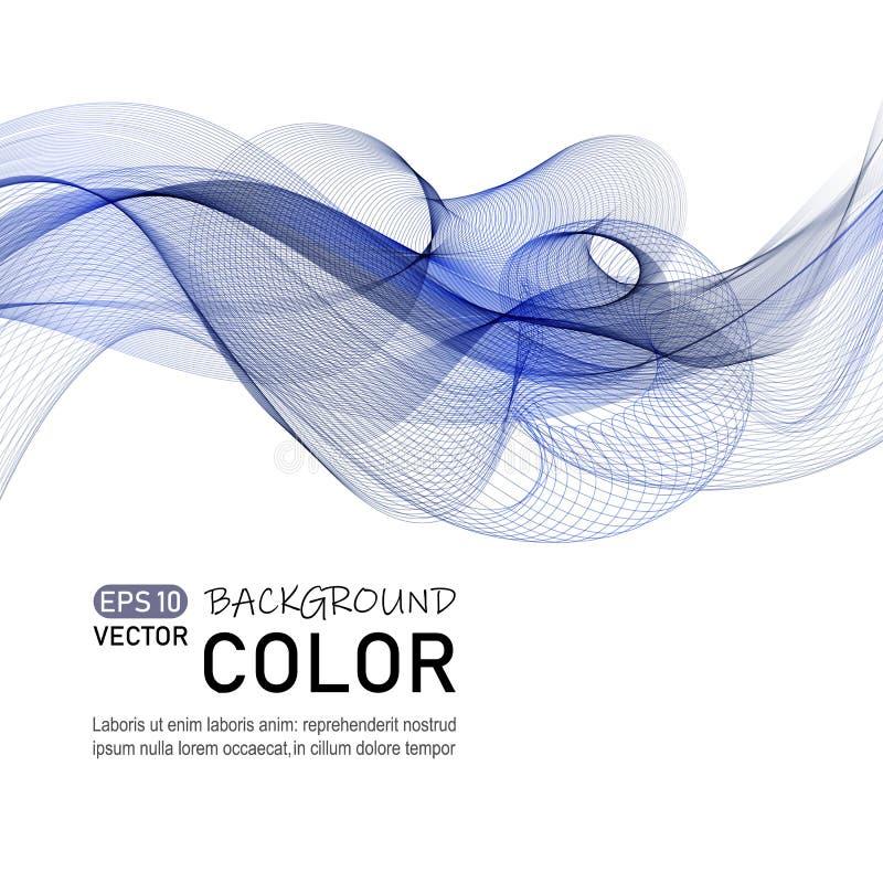 Abstrakcjonistycznego koloru falowy wektor Koszowy kreskowy dynamiczny przepływ ilustracja wektor
