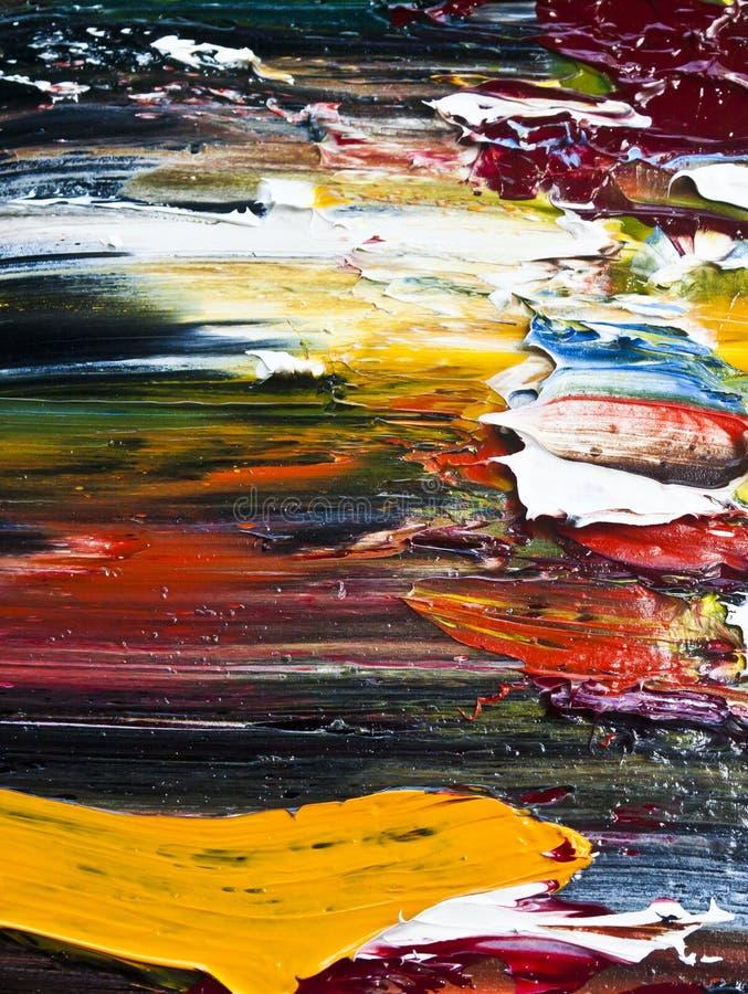 abstrakcjonistycznego koloru nafciana farba obraz royalty free