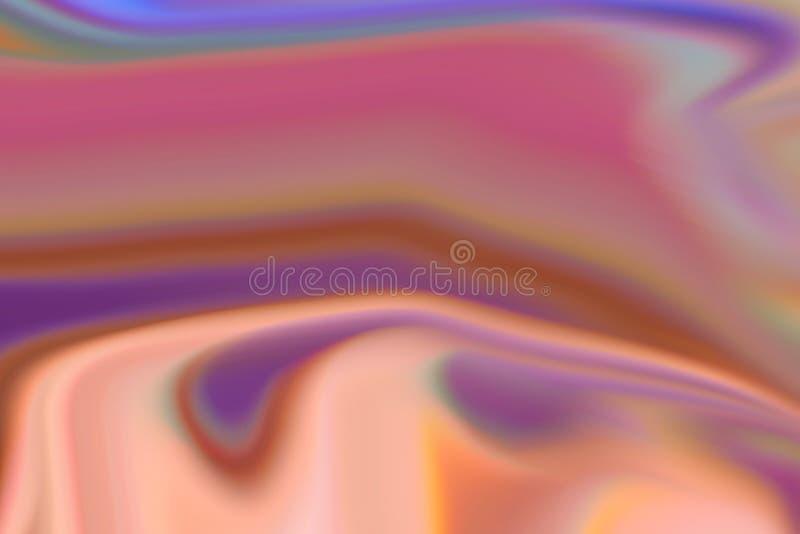 Abstrakcjonistycznego koloru zamazany wizerunek spirala ilustracji
