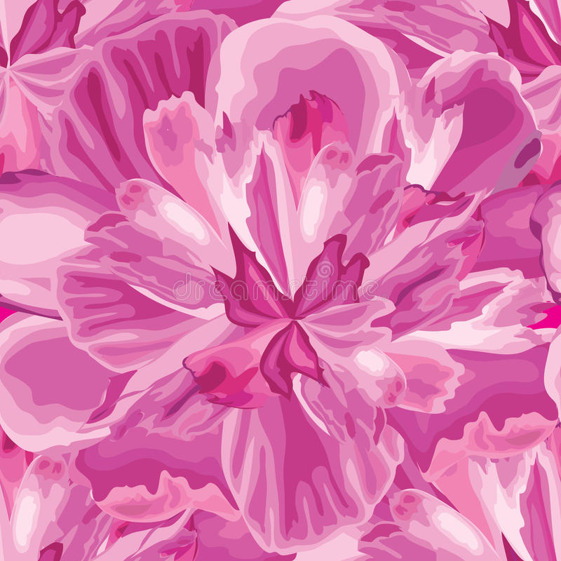 Abstrakcjonistycznego kwiatu płatka bezszwowy wzór Textured tło Flo ilustracji
