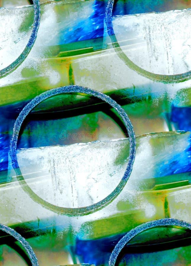 abstrakcjonistycznego metalu stary pierścionku drut obraz stock