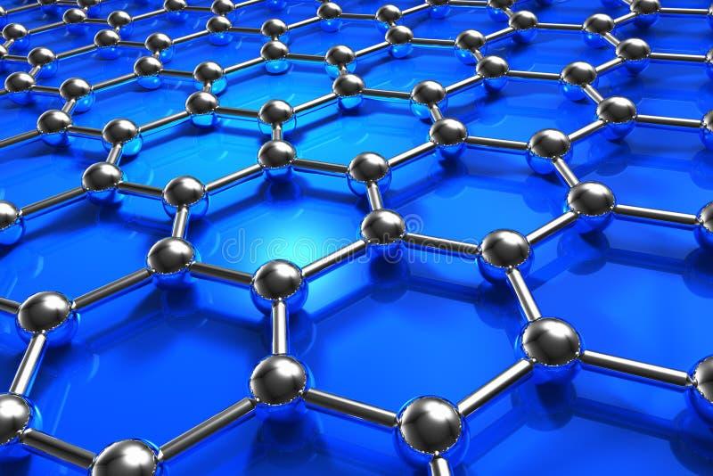 abstrakcjonistycznego modela cząsteczkowy nanostructure ilustracja wektor