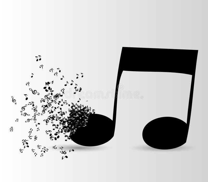 Abstrakcjonistycznego muzycznego tła wektorowa ilustracja dla ilustracja wektor