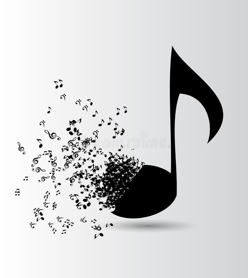 Abstrakcjonistycznego muzycznego tła wektorowa ilustracja dla ilustracji