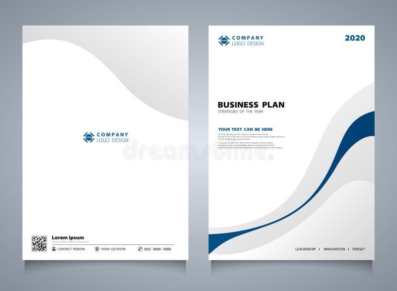 Abstrakcjonistycznego niebieska linia koloru broszurki nowożytny szablon Ty możesz używać dla korporacyjnego układu, pokrywa proj royalty ilustracja