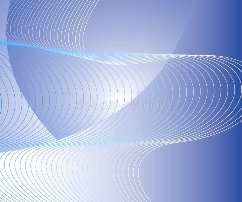 abstrakcjonistycznego niebieski tła falisty ilustracji