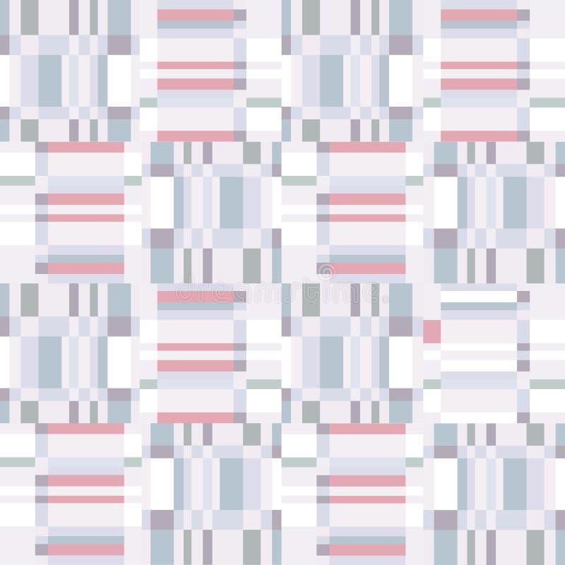 Abstrakcjonistycznego niepokoju geometryczny bezszwowy wzór Piksla mrugnięcia tekstura ilustracji