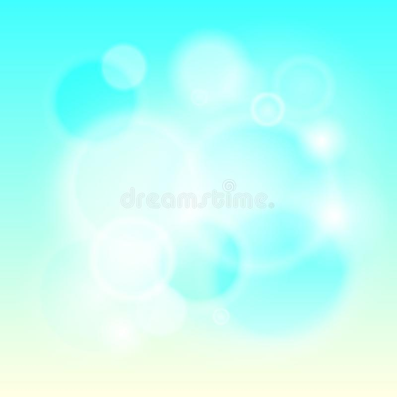 Abstrakcjonistycznego nowożytnego światła tła defocused i gradientowa tekstura Niebieskie niebo koloru zamazany tło Żywy projekta royalty ilustracja