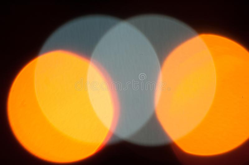 Abstrakcjonistycznego okręgu skrzyżowania błękitni żółci światła fotografia royalty free