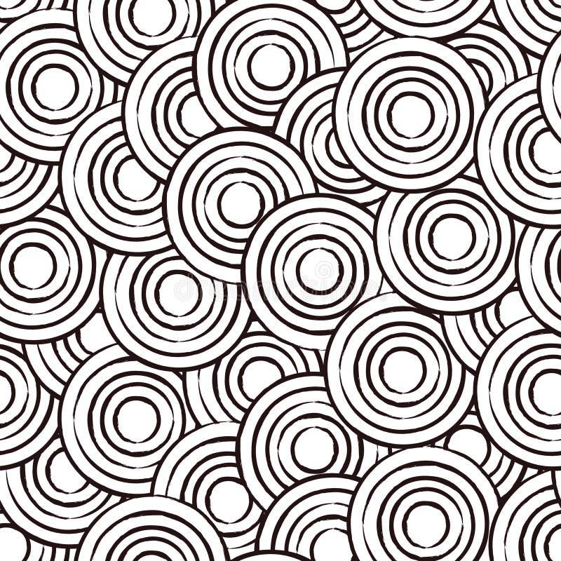 abstrakcjonistycznego okregów projekta wzoru bezszwowy wektor ilustracji