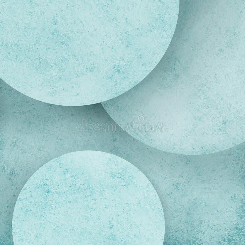 Abstrakcjonistycznego pastelowego błękitnego okręgu geometryczny tło z warstwami round okręgi z zakłopotanym tekstura projektem ilustracja wektor
