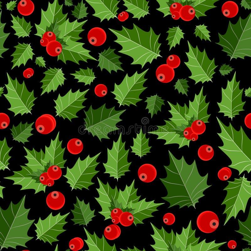 Abstrakcjonistycznego piękna Bożenarodzeniowy Jagodowy Bezszwowy wzór ilustracji