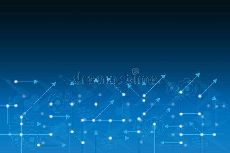 Abstrakcjonistycznego pojęcia elektronicznego obwodu deski informatyki futurystyczny kreskowy tło royalty ilustracja
