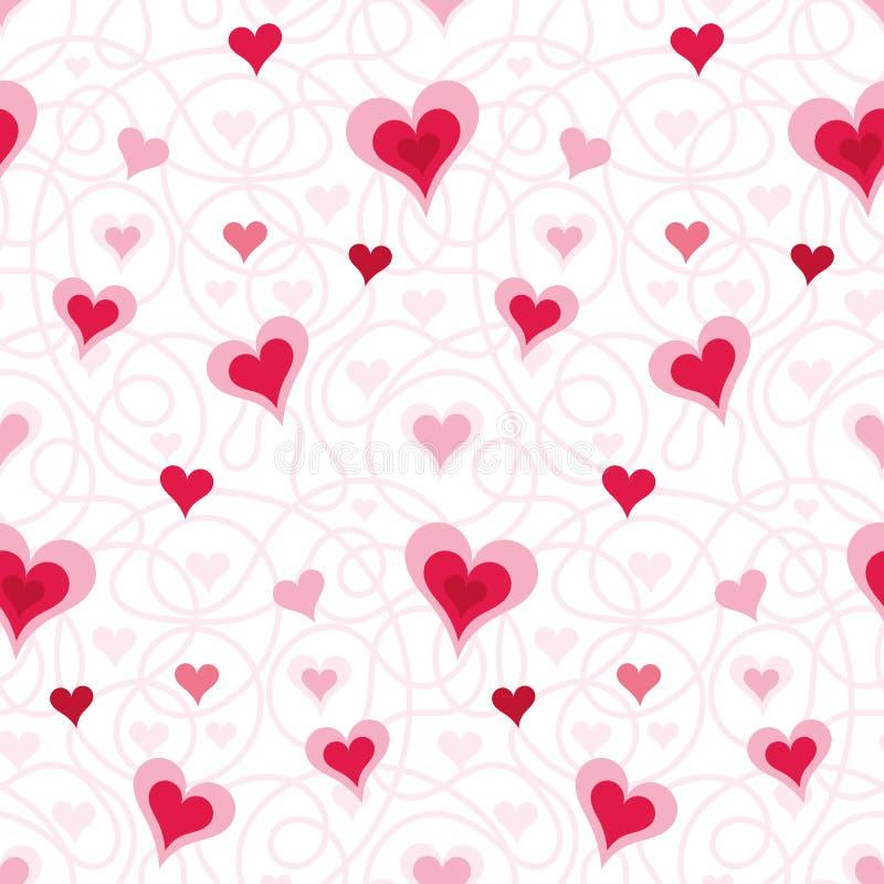 abstrakcjonistycznego pojęcia kierowy ilustracyjny wizerunku miłości deseniowej przestrzeni tekst royalty ilustracja