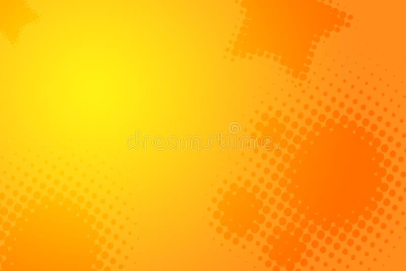 abstrakcjonistycznego pomarańczowy tła żółty ilustracji