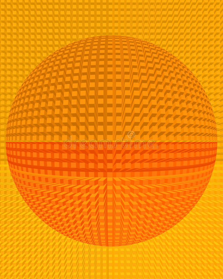 abstrakcjonistycznego przecznicę extruding tła kuli ilustracji