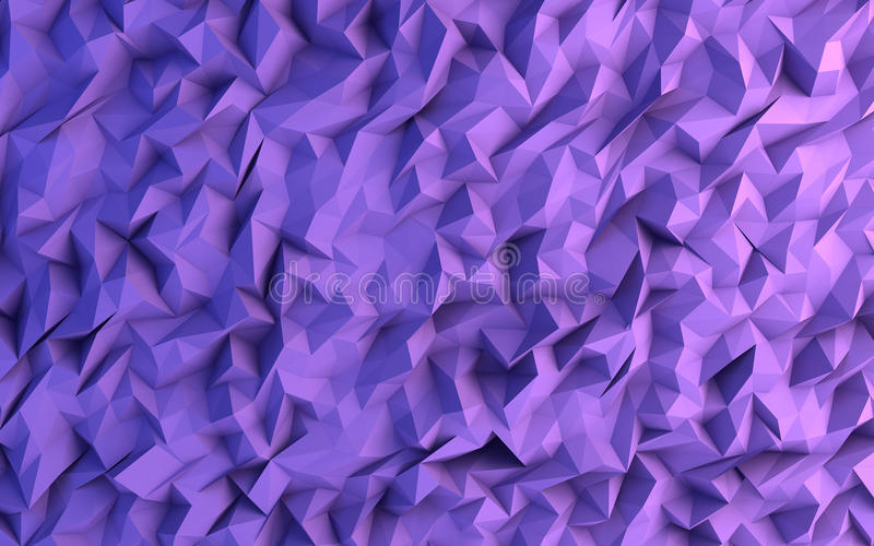 Abstrakcjonistycznego purpurowego trójboka tła Geometrical ilustracja obraz royalty free