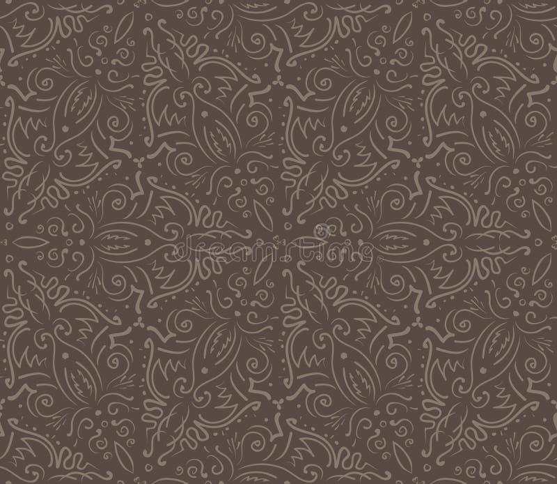 Abstrakcjonistycznego rocznika brązu bezszwowy wzór ilustracji
