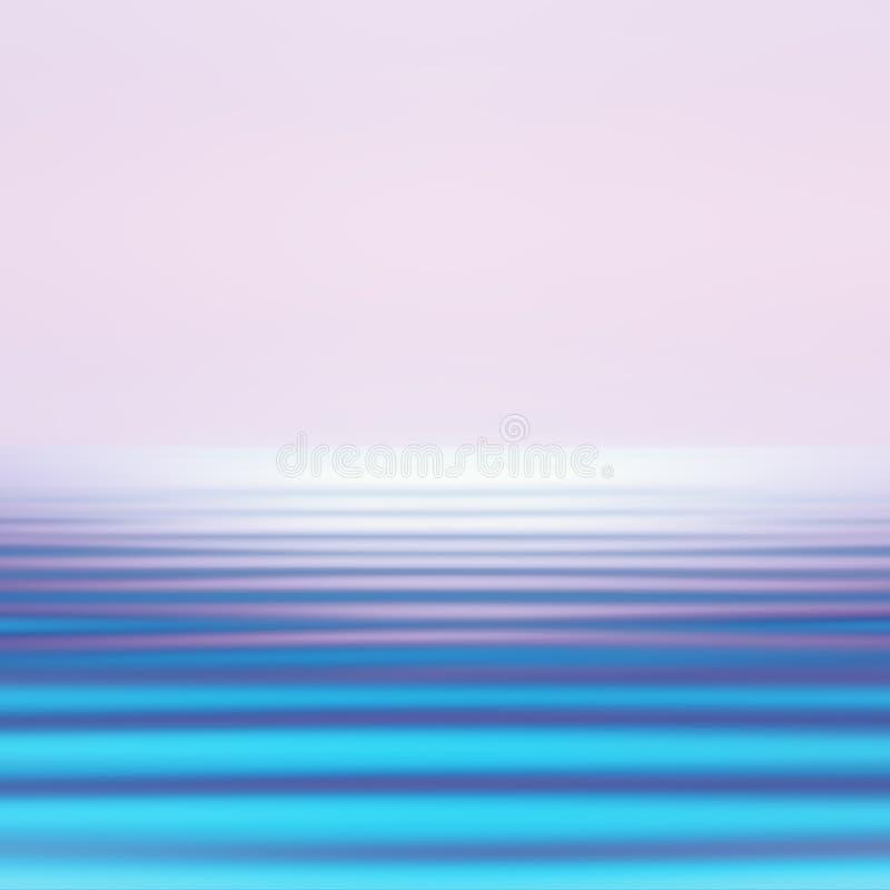 Abstrakcjonistycznego ruchu Seascape Zamazany tło W Żywych Holograficznych kolorach royalty ilustracja