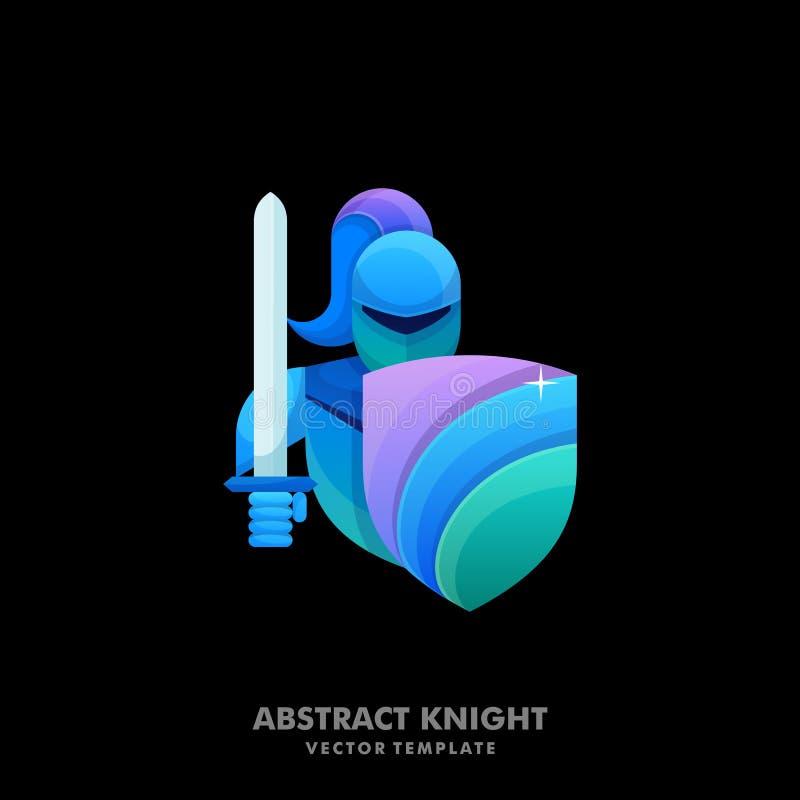 Abstrakcjonistycznego rycerza kolorowy ilustracyjny wektorowy szablon royalty ilustracja