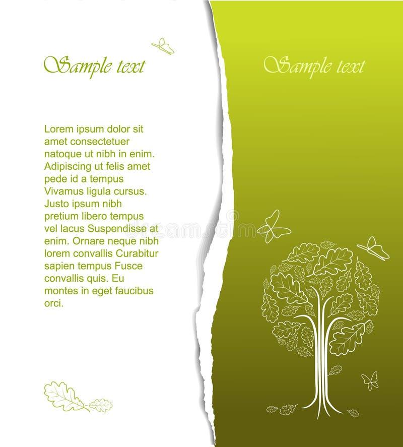 abstrakcjonistycznego rysunku stylizowany drzewny rocznik ilustracja wektor