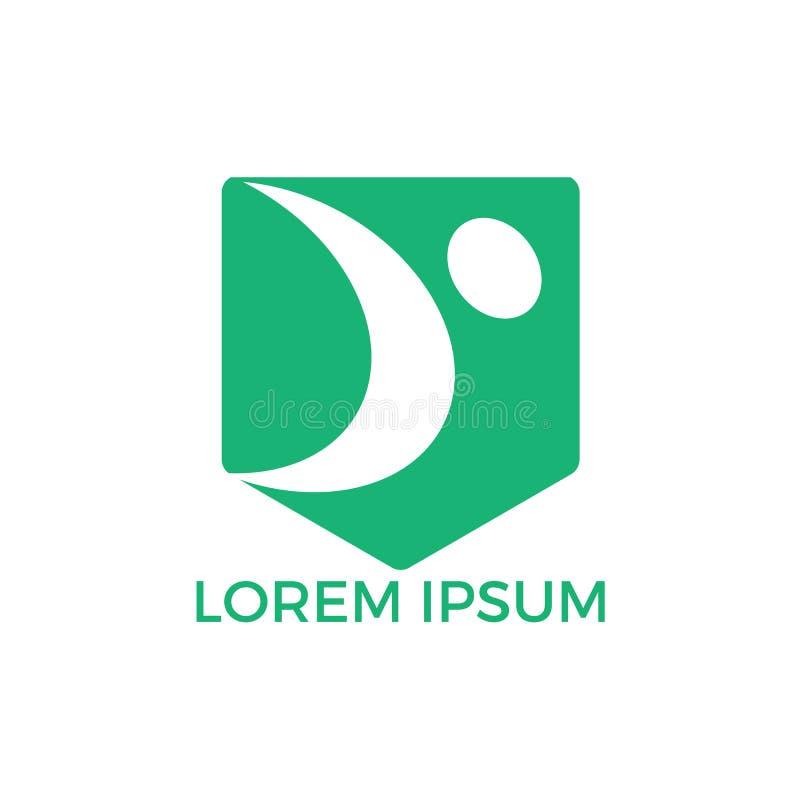 Abstrakcjonistycznego symbolu logo szczęśliwy ludzki projekt ilustracja wektor