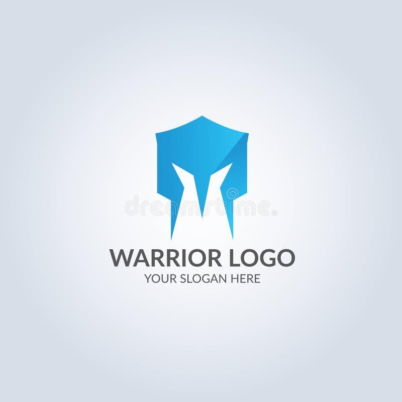 Abstrakcjonistycznego symbolu logo w błękitnego koloru gradientowym kolorze projekta pożarniczy notatnika szablonu pisać twój royalty ilustracja