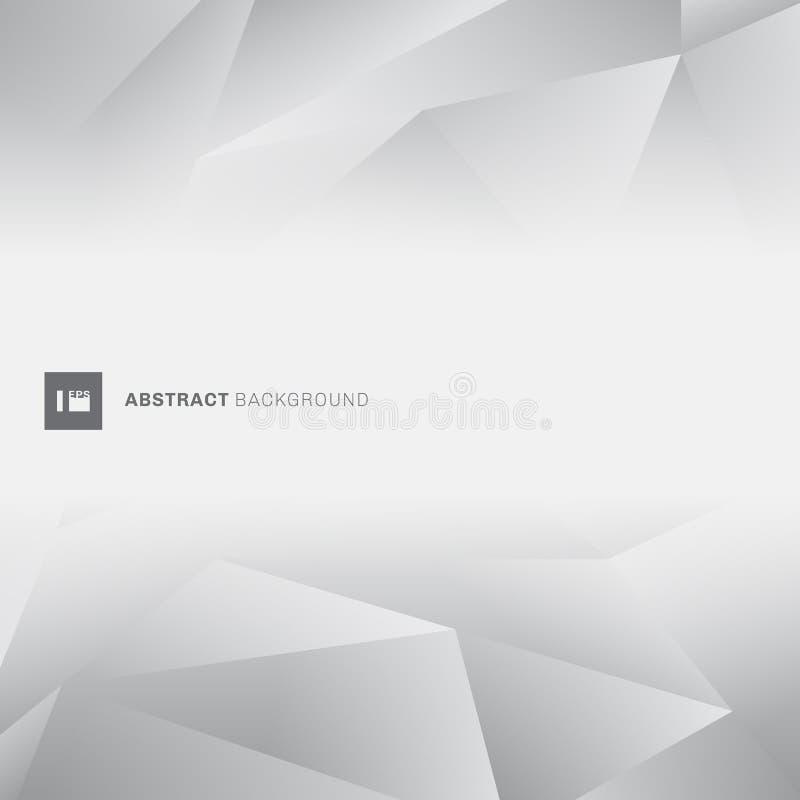 Abstrakcjonistycznego szarego niskiego wieloboka modny styl z przestrzenią dla teksta Geometryczny siwieje kolorów wieloboków tło ilustracji
