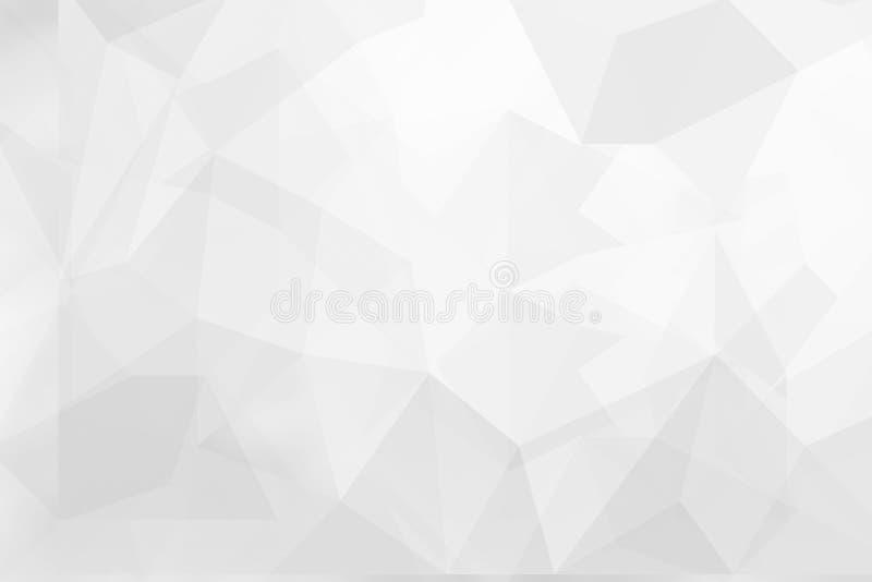 Abstrakcjonistycznego Szarego tła trójboka kształtów niski poli- textured projekt fotografia stock