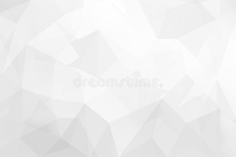 Abstrakcjonistycznego Szarego tła trójboka kształtów niski poli- textured projekt zdjęcia stock