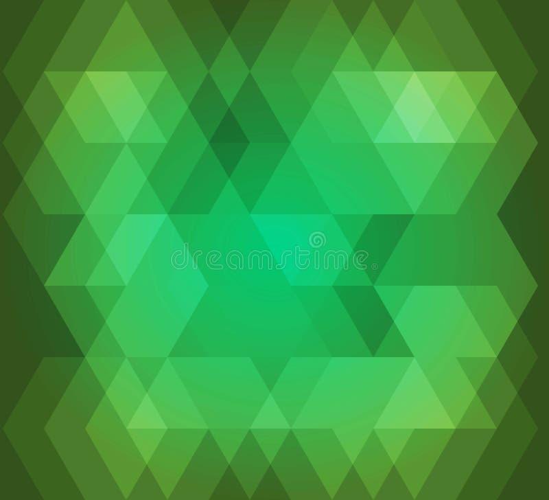Abstrakcjonistycznego tła hex wzoru zielony kolor ilustracja wektor