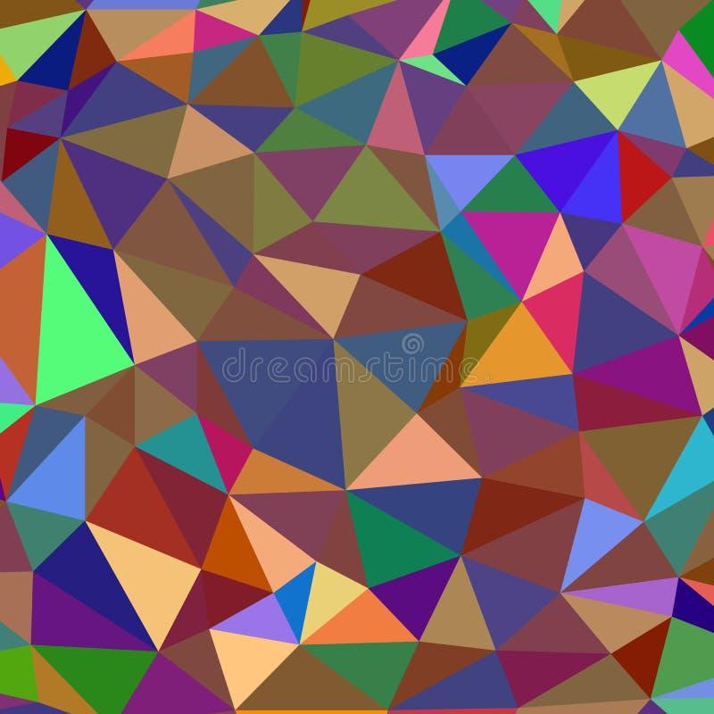 Abstrakcjonistycznego tła multicolor składa się trójboki ilustracja wektor