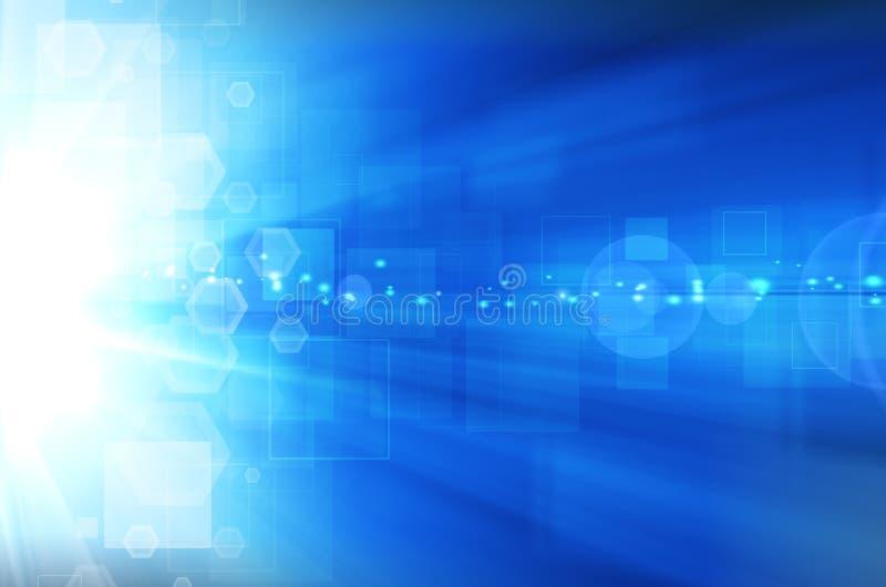 Download Abstrakcjonistycznego Tła Błękitny świateł Cieni Technologia Ilustracji - Ilustracja złożonej z krzywa, tło: 53782077